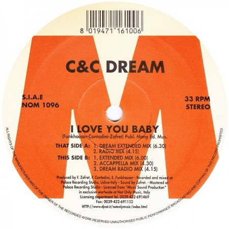 Copertina - I Love You Baby come C&C Dream
